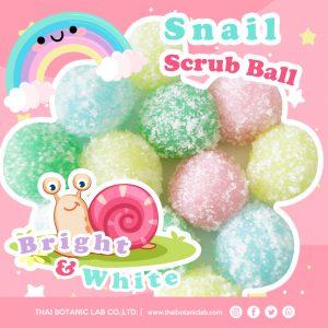 รับผลิตสร้างแบรนด์สครับเมือกหอยทาก Snail Scrub Ball